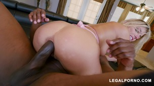 Horny Squirter Adriana Chechik Gets DPd by 2 Black Cocks AB010 small screenshot