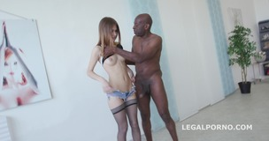 Black Buster, Ginger Fox gets gapes non stop with Mike Chapman. NO PUSSY /BALL DEEP /GAPES GIO209 small screenshot