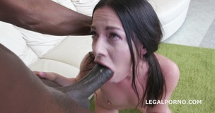 Blackbuster with Evelina Dellai. Real anal training from Tight to Wide, rough oral sex and swallow. No Pussy GIO310 small screenshot