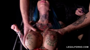 Tattooed Megan Inky Dominates Her Boss During Extreme Double Penetration GP057 small screenshot