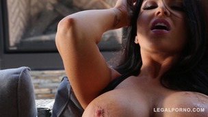 Incredibly hot & busty Romi Rain screams & creams while fucked balls deep GP224 small screenshot