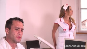 Submissive sexy nurse Candy Alexa receives intense BDSM treatment by Doc GP348 small screenshot