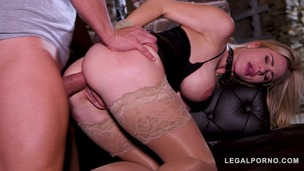 Subby Natalie Cherie dominated & ass fucked by her BDSM Master's big cock GP367 small screenshot