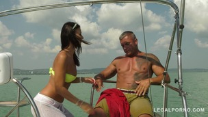 Sailor goddess Vicky Love rescues guy and rides his huge cock on the boat GP370 small screenshot