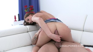 Cute newbie Antonia Saints filmed during her first anal for Legal Porno SZ836 small screenshot