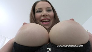 Big butt slut Carol Wings double anal (DAP) with 3 cocks (PAWG anal) SZ1171 small screenshot