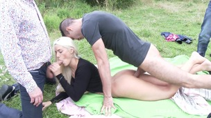 Blanche Bradburry assfucked on a picnic by the lake SZ1465 small screenshot