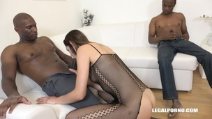 Young bitch Jessica Bell goes crazy for black cock IV115 small screenshot