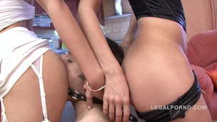Xandy & Polina in anal threesome with fisting & foot fetish NR158 small screenshot