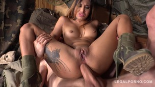 Extreme XXX double penetration at army base makes Roxy Lips scream & cream FS031 small screenshot