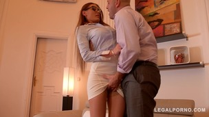 Sexy Office Bitch Kitana Lure begs for Anal Sex & Facial cumshot GP512 small screenshot