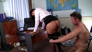 Hot Detective Jasmine Black investigates suspect's big dick in XXX roleplay GP1017 small screenshot