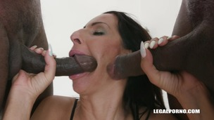 Kinky bitches Rebecca Sharon & Valentina Sierra go for black cocks IV408 small screenshot