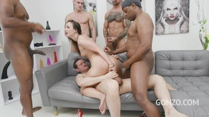 Kristy Black anal & DAP 4on1 with Piss Drinking & 0% pussy fucking SZ2453 small screenshot