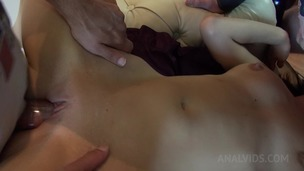 Tina Hot enjoys amateur threesome with double penetration OTS402 small screenshot
