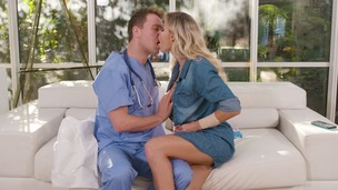 Blonde stunner Jessa Rhodes's anal sex fantasy with her doctor cums true GP1458 small screenshot