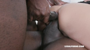 Bethie Lova discovers black feeling and takes 2 BBC in the ass balls deep IV513 small screenshot