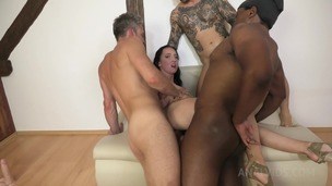Bella Angel Vs 3 guys with gapes and double penetration NF023 small screenshot