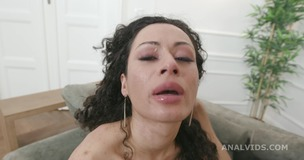 Black Roses Stacy Bloom Vs 2 BBC with Balls Deep Anal, DAP, Farts, Buttrose and Creampie Swallow GIO1700 small screenshot