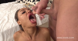 Monika Fox 4on1 DAP and Pee Drink, with Balls Deep Anal, ButtRose, Squirting and Swallow GL374 small screenshot