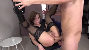 Anastasia Mistress Hard Fucked in The Ass + Spanking + Slapping + Anal Squirt + Big Anal Gape VK035 small screenshot